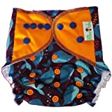 Allboutbaby Reusable All In One (Aio) Cloth Diaper For Heavy Absorbency With Organic And Stay Dry Insert - Whales