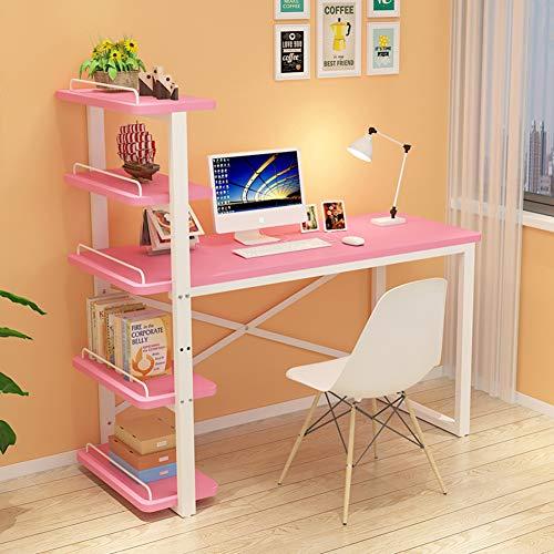 JiaQi L Förmige- Desk Mit Bücherregalen,Home Office Große Computer Schreibtisch,multifunktöne Studie Lesen Schreiben Ecke Computertisch Workstation-j 130x55x138cm(51x22x54inch) -