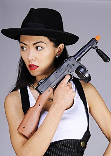 Zwanziger Jahre Gangster Fancy Dress Schwarz Tommy Gun