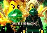 Lego Ninjago Einladungskarten 12er Set inkl. 12 Umschläge N31