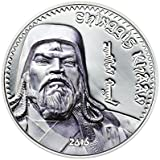 Gengis Kan 1000 Tugriks 1oz Moneda Plata (Coloreada) - Mongolia 2016