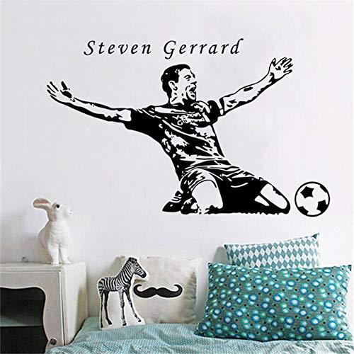 zqyjhkou Soccer Player Gliding Celebration Wandtattoos Student Dormi Schlafzimmer Wandtattoo D44 58 x 37 cm