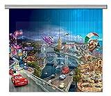 AG Design Disney Cars Kinderzimmer Gardine/Vorhang, 2 Teile Stoff Mehrfarbig 180 x 160 cm