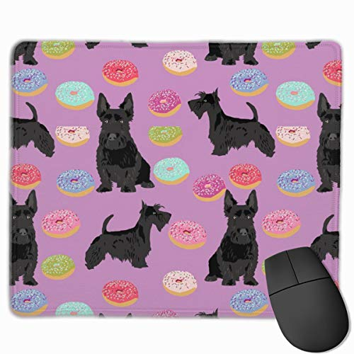 Scottie Donuts Neoprene Mouse pad Office Space Decor Home Office Computer Accessories Mousepads 25 X30 cm -