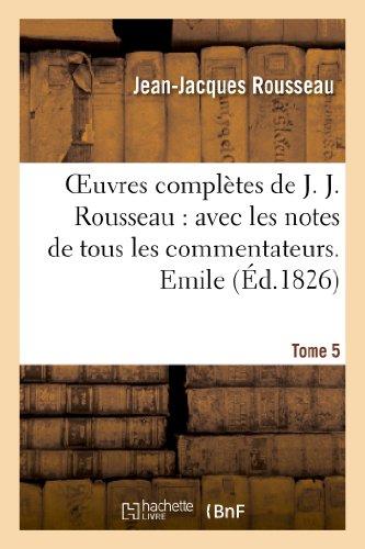 Oeuvres complètes de J. J. Rousseau. T. 5 Emile T3 par Jean-Jacques Rousseau