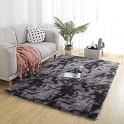 Alfombra para salón en negro, 160 x 250 cm