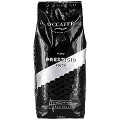 Idea Regalo - O'ccaffe Prestigio | Miscela di caffè in grani selezionati arabica 70% et robusta 30% | gusto pieno e cioccolatato | 1 KG chicchi tostati tradizionalmente