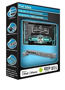 Fiat Idea autoradio JVC de lecteur CD et stéréo de voiture avec port USB et prise AUX/in pour iPod, iPhone, Android play