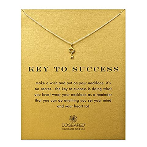 Dogeared - Collier Key to Success - Plaqué or -