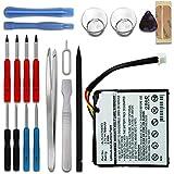 subtel® Batteria Premium Compatibile con Tomtom Start 20 Start 25, 4EN.001.02 4EN42 4EN52 4EV42 4EV52 - ALHL03708003 1ICP6/34/36 (700mAh) + Set di Strumento Batterie Ricambio accu Sostituzione