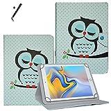 Tablet Hülle 10.1 Zoll für Archos Diamond Tab (2017) Schutzhülle Etui Case mit Touch Pen und Standfunktion - Eule 1