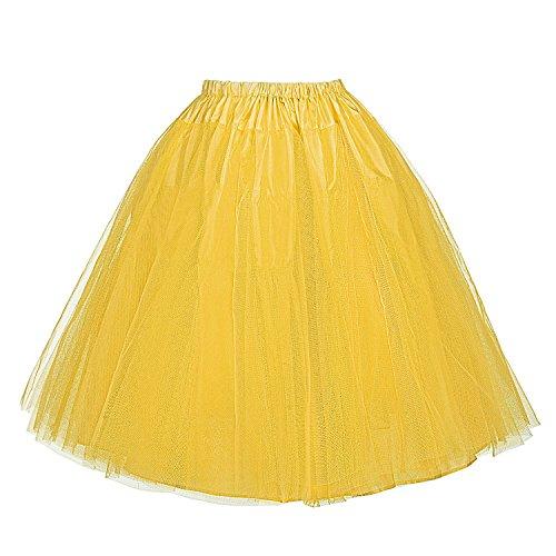 Belle Poque Vintage Unterrock 50s Petticoat Damen Tutu Underskirt schlicht Reifrock BP56-5 XL