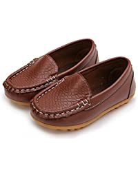f14930ae954a Amazon.co.uk  Brown - Loafer Flats   Boys  Shoes  Shoes   Bags