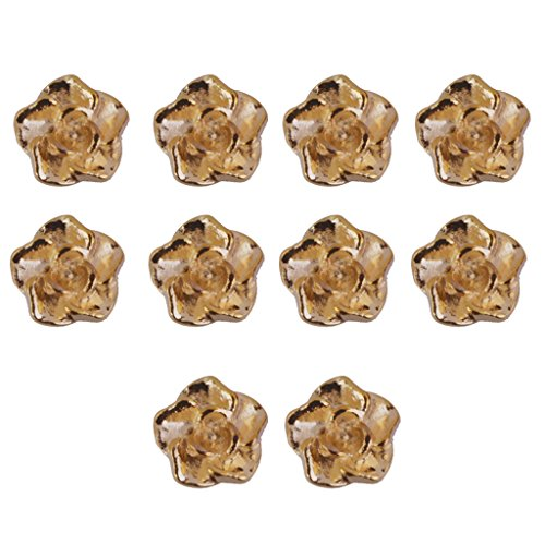 MagiDeal 10pcs 3D Fleur Décoration Charms DIY Manucure Nail Art