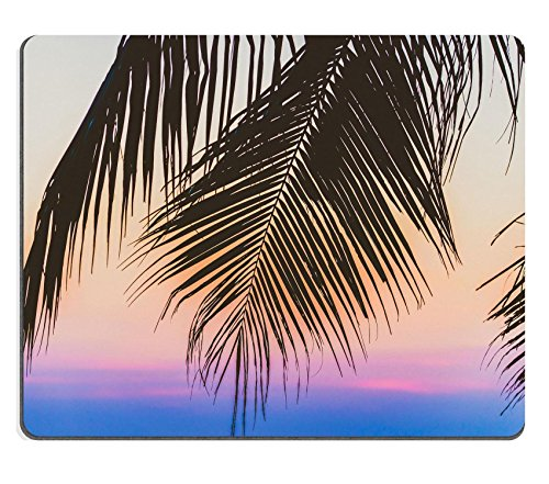 luxlady Gaming Mousepad Bild-ID: 39136288 Silhouette Palm Tree Vintage Filter