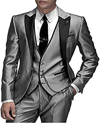 Judi Dench@ Traje de hombre del partido del traje de los hombres 3 partes chaqueta + pantalones + chaleco de 1013