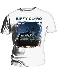 Official T shirt BIFFY CLYRO Album Cover OPPOSITES White XXL