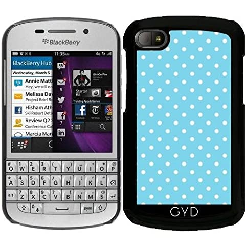 Coque pour Blackberry BB Q10 - Girls Love Points - Bleu / Blanc by UtArt