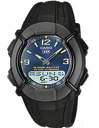 Casio HDC-600-2BVES - Reloj con correa de goma para hombre, color azul / negro