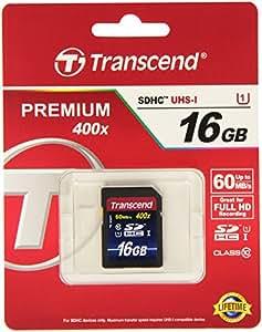 Transcend - TS16GSDU1 - Carte Mémoire SDHC - Classe 10 UHS-I 300x