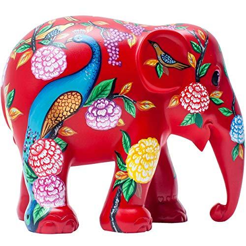 Unbekannt Parade de Elefante de Peacock Garden - Estatua de Elefante Hecha a Mano - 10 cm