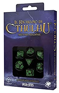 Raven–Lot Ecrous officielles le rappel de Cthulhu, noir/vert