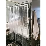 Tatkraft Waterfall Cortina de Ducha Transparente 180 X 180 cm PEVA Impresión 3D
