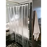 Tatkraft Waterfall Rideau de Douche Transparent 180 X 180 cm PEVA Impression 3D