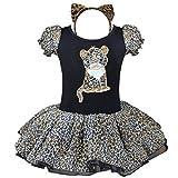 iEFiEL Baby Mädchen Kostüm Kleid Kinderkostüm Halloween Leopard Kostüm-Set mit Haarreif 80-128 erhältlich Leopard 80-86