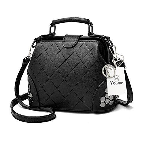 Yoome frizione con pattini gotico Bag Crossbody Top Handle Tote borse eleganti per borsa donna borsa - rosa Nero