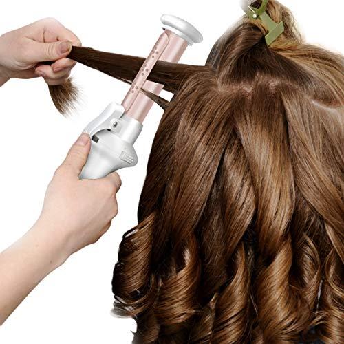 Haokaini Protable schnurloses Haar-Lockenstab, wiederaufladbare keramische Haar-Lockenstab-Wet Dry-Gebrauch-Reise-Haarglätter-Lockenwickler (Zauberstab Lockenstab Reisen)