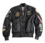 Alpha Industries Jacke MA-1 Pilot, Größe:L, Farbe:black overdyed