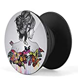 Pritsol Girl Illustration with Butterflies Acrylic Printed popup Grip Mobile Phone Holders