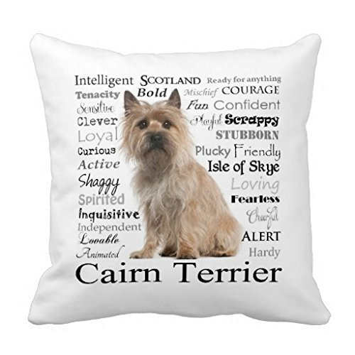 KCOUU Cairn Terrier Eigenschaften Kissen Fall -