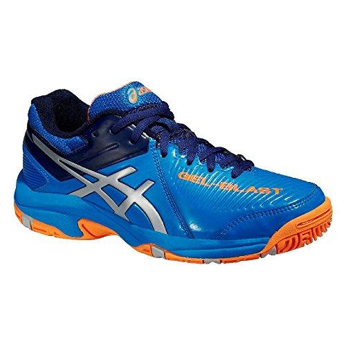 Asics Gel-blast 6 Gs, Chaussures Multisport Indoor Mixte adulte Bleu/orange