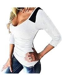 WanYang Damen Rundhals Ausschnitt Sweatshirt Pullover Bluse Oberteile Tops  Langarm sexy T-shirt d37cf24562