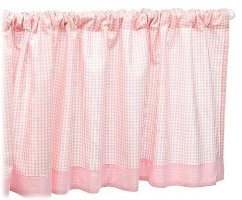 Tadpoles Basics Gingham Rod Pocket Window Valance, Pink by Tadpoles