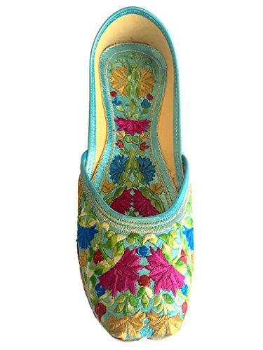 Étape N Style Chaussures de Ballet en cuir plat Flip Flop Pour Femme Multicolore - Multicolore