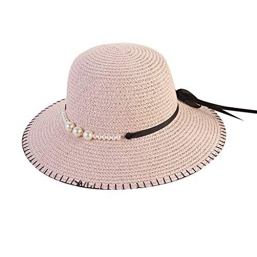 Yvelands Mujeres Playa Sombrero de Paja Sombrilla de Jazz Panamá Perla  Sombrero de Fedora Gorra de 695d48ac5ac