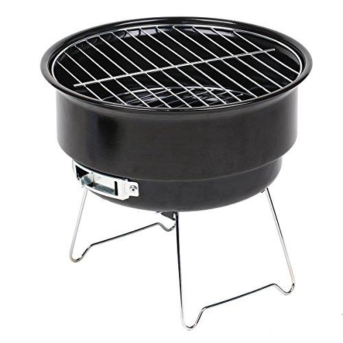 51mHjyUSaRL - Grill-Eimer Holzkohlegrill für Garten Terrasse Camping Festival Picknick Party BBQ Barbecue 25,4 cm