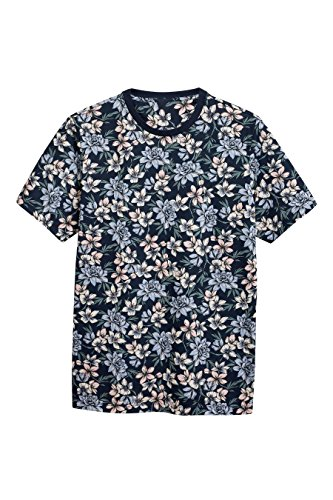 next-Hombre-Camiseta-Estampado-Flores
