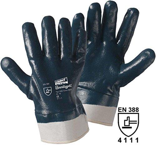 Gants de protection Leipold + Döhle 1452 Coton avec revêtement caoutchouc nitrile EN 388 RISQUES MECANIQUES 4221 Taille