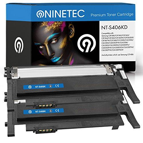 Preisvergleich Produktbild Doppelpack 2x Original NINETEC NT-S406KD Toner-Kartuschen Black kompatibel zu Samsung CLT-K406