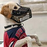 #6: PnM High Quality Leather Dog Muzzle Breathable Safety Mask for Large Dogs Adjustable Dog Muzzle Anti Biting & Barking Mask for Maxi & Large Dogs