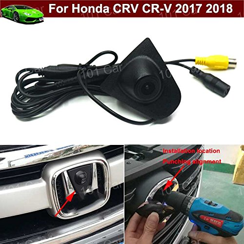 Wasserdicht Auto Fahrzeug Auto vor View Kamera Logo Embedded Kamera KFZ Front Grill Kühlergrill Kamera CCD breit Grad für Honda CRV CR-V 20172018