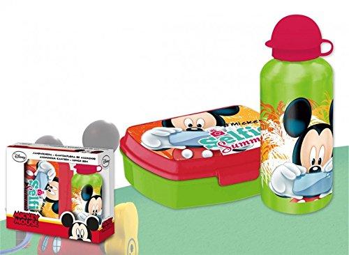 Mickey Mouse - Set cantimplora y sandwichera (Kids Euroswan WD17163)