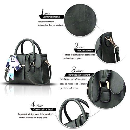 Sunas Il nuovo sacchetto di spalla trasversale del sacchetto del messaggero della spalla di svago di svago delle borse delle donne di modo di alta qualità verde