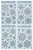 * 50 weihnachtliche winterliche silber-glitzernde Fensterbilder Weihnachtsdeko Fensterdekoration Scheibendekoration, wiederverwendbar!!