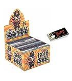 1 Box Smoking Bob Marley King Size Papers aus Hanf 50 Heftchen x 33 Blättchen mit Smoking Heftchen 2 x 50 Filtertips Original®