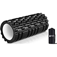 FEGSY Foam Roller for Exercise, Fitness, Back Pain, Deep Tissue Massage, and Physiotherapy (Black)